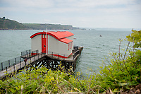 View of the former lifeboat station which has been converted to a house in Tenby, Pembrokeshire, Wales, UK
