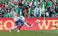 Mexico City, Mexico - Sunday June 11, 2017:  during a 2018 FIFA World Cup Qualifying Final Round match with both men's national teams of the United States (USA) and Mexico (MEX) playing to a 1-1 draw at Azteca Stadium.