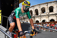 July 9th 2021. Carcassonne, Languedoc, France;   COLBRELLI Sonny (ITA) of BAHRAIN VICTORIOUS during stage 13 of the 108th edition of the 2021 Tour de France cycling race, a stage of 219,9 kms between Nimes and Carcassonne.