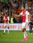 Nederland, Amsterdam, 15 augustus 2015<br /> Eredivisie<br /> Seizoen 2015-2016<br /> Ajax-Willem ll (3-0)<br /> Anwar El Ghazi van Ajax balt zijn vuist en juicht nadat hij een doelpunt heeft gemaakt