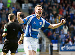 St Johnstone v Morton....02.05.09.Martin Hardie celebrates his goal.Picture by Graeme Hart..Copyright Perthshire Picture Agency.Tel: 01738 623350  Mobile: 07990 594431