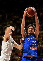 04.07.2021 Belgrade Serbia-Italy FIBA Olympic qualifying tournament final men s basketball Achille Polonara R Italy :Str/<br /> Photo Imago/Insidefoto ITA ONLY