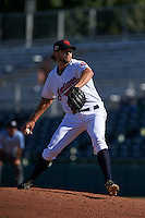 Scottsdale Scorpions pitcher Grant Sides (38) delivers a pitch during an Arizona Fall League game against the Surprise Saguaros on October 22, 2015 at Scottsdale Stadium in Scottsdale, Arizona.  Surprise defeated Scottsdale 7-6.  (Mike Janes/Four Seam Images)