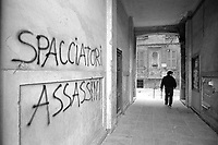 - Milan, illegally occuped house of Dateo square (February 1988)<br />