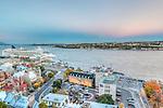Canada, Quebec, Quebec City, Old Port Sunset