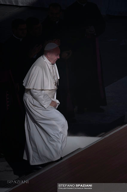 Pope Francis during of a weekly general audience at St Peter's square in Vatican. November 9, 2016