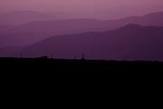 Appalachian Trail - Mount Washington Auto Road at dusk near the summit of Mount Washington in the White Mountains, New Hampshire USA.
