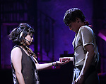 "Eva Noblezada and Reeve Carney during the Broadway Press Performance Preview of ""Hadestown""  at the Walter Kerr Theatre on March 18, 2019 in New York City."