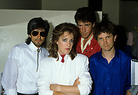 """Montreal (Qc) CANADA - July 2nd 1986 - File Photo -<br /> <br /> Katrina and the Waves in concert at Club Soda, Montreal.<br /> <br /> Katrina and the Waves were a pop rock band of the 1980s, best known for their 1985 hit """"Walking on Sunshine"""" and their 1997 Eurovision Song Contest victory with the song """"Love Shine a Light"""".<br /> <br /> -Photo (c)  Images Distribution"""