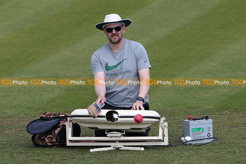 Worcestershire head coach Alex Gidman during the warm up ahead of Worcestershire CCC vs Essex CCC, LV Insurance County Championship Group 1 Cricket at New Road on 2nd May 2021