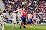 Atletico de Madrid's Sergio Ramos and Real Madrid's Alvaro Morata during La Liga match between Atletico de Madrid and Real Madrid at Wanda Metropolitano Stadium in Madrid, Spain. February 09, 2019. (ALTERPHOTOS/A. Perez Meca)