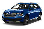 2020 Skoda Kamiq Style 5 Door SUV angular front stock photos of front three quarter view