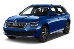 2020 Skoda Kamiq Style 5 Door SUV angular front stock photos of front three quarter view