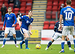 St Johnstone v Dundee…02.10.21  McDiarmid Park.    SPFL<br />Liam Craig making his 442nd appearance for St Johnstone<br />Picture by Graeme Hart.<br />Copyright Perthshire Picture Agency<br />Tel: 01738 623350  Mobile: 07990 594431