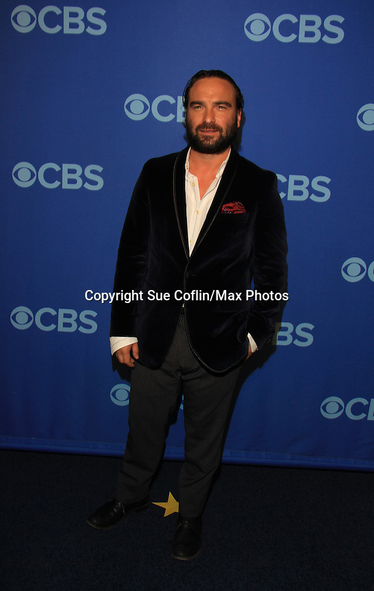 Johnny Galecki - Big Bang Theory at the CBS Upfront on May 15, 2013 at Lincoln Center, New York City, New York. (Photo by Sue Coflin/Max Photos)