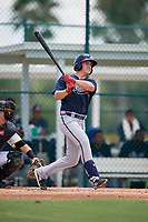 GCL Braves Cade Bunnell (25) bats during a Gulf Coast League game against the GCL Pirates on July 30, 2019 at Pirate City in Bradenton, Florida.  GCL Braves defeated the GCL Pirates 10-4.  (Mike Janes/Four Seam Images)