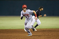 Jackson Cluff (10) of the Hagerstown Suns hustles towards third base against the Kannapolis Intimidators at Kannapolis Intimidators Stadium on August 26, 2019 in Kannapolis, North Carolina. The Suns defeated the Intimidators 4-1. (Brian Westerholt/Four Seam Images)
