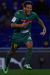VALENCIA, SPAIN - FEBRUARY 02: Ruben Garcia of Levante UD celebrates after scoring first goal for Levante UD during the Liga BBVA between RCD Espanyol and Levante UD at the Cornella-El Prat Stadium on February 02, 2013 in Valencia, Spain. Photo by Aitor Alcalde / Power Sport Images.