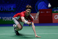 14th March 2020, Arena Birmingham, Birmingham, UK; Denmarks Anders Antonsen competes during the mens singles semifinal match with Chinese Taipei s Chou Tien Chen at All England Badminton 2020 in Birmingham