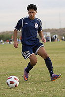 2010 US Soccer Development Academy Winter Showcase U15/16 Albertson SC vs Indiana United Academy at Reach 11 Soccer Complex in Phoenix, Arizona in December of  2010.