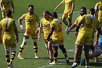 2nd May 2021; Stade Marcel-Deflandre, La Rochelle, France. European Champions Cup Rugby La Rochelle versus Leinster Semi-Final;  La Rochelle players celebrate their win