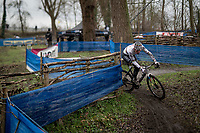 CX world champion Mathieu Van der Poel (NED/Alpecin-Fenix) on his way to yet another victory<br /> <br /> 2021 Flandriencross Hamme (BEL)<br /> Men's Race<br /> <br /> ©kramon