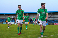 Cian Coleman (left) and Cian Bargary (right) of Cork City at full time.<br /> <br /> Cobh Ramblers v Cork City, SSE Airtricity League Division 1, 28/5/21, St. Colman's Park, Cobh.<br /> <br /> Copyright Steve Alfred 2021.
