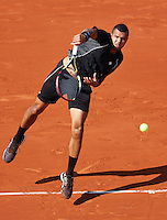 France, Paris , May 27, 2015, Tennis, Roland Garros, Jo-Wilfried Tsonga (FRA)<br /> Photo: Tennisimages/Henk Koster