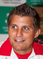 11-sept.-2013,Netherlands, Groningen,  Martini Plaza, Tennis, DavisCup Netherlands-Austria, Training,   Captain Clemens Trimmel (AUT)<br /> Photo: Henk Koster