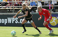 Leslie Osborne (10) and Allie Long (9). Washington Freedom defeated FC Gold Pride 4-3 at Buck Shaw Stadium in Santa Clara, California on April 26, 2009.
