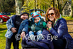 Ready to enjoy a stroll in Muckross Gardens Killarney on Saturday l to r: Fionn and Oisin Murphy and Samantha Williams.
