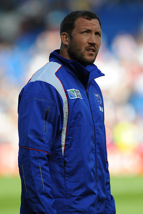 George Skivington, formerly of London Irish, now a Specialist Coach for Samoa during Match 6 of the Rugby World Cup 2015 between Samoa and USA - 20/09/2015 - Brighton Community Stadium, Brighton <br /> Mandatory Credit: Rob Munro/Stewart Communications