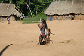 Pará State, Brazil. Aldeia Pukararankre (Kayapo). Women's dance.