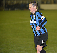 20140326 - AALTER , BELGIUM : Brugge's Christine Saelens pictured during the soccer match between the women teams of Club Brugge Vrouwen  and AA Gent  Ladies , on the 21th matchday of the BeNeleague competition Friday 14 March 2014 in Aalter. PHOTO DAVID CATRY