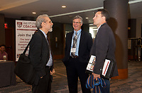 Daniel Goleman ,Chip Carter and Gordon Spence at zzCoaching in Leadership and Healthcare Conference by the Institute of Coaching and Harvard Medical School at the Renaissance Hotel Boston MA October 13 and 14, 2017