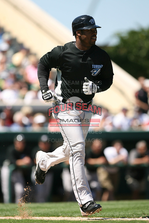 March 21st 2008:  Shannon Stewart of the Toronto Blue Jays during Spring Training at Joker Marchant Stadium in Lakeland, FL.  Photo by:  Mike Janes/Four Seam Images
