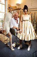 SEP 17 Paul Costelloe's Spring Summer 2022 collection,  backstage at London Fashioon week