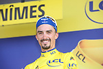 Race leader Julian Alaphilippe (FRA) Deceuninck-Quick Step retains the Yellow Jersey at the end of Stage 16 of the 2019 Tour de France running 177km from Nimes to Nimes, France. 23rd July 2019.<br /> Picture: Colin Flockton   Cyclefile<br /> All photos usage must carry mandatory copyright credit (© Cyclefile   Colin Flockton)