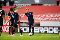 GUADALAJARA, MEXICO - MARCH 28: Jackson Yueill #6 of the United States giving instructions to his team mates during a game between Honduras and USMNT U-23 at Estadio Jalisco on March 28, 2021 in Guadalajara, Mexico.