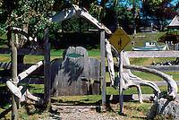 Near Sointula, Malcolm Island, BC, British Columbia, Canada - Driftwood Gate on Fence