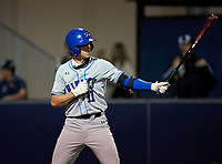 Lakeland Christian Vikings Ian Anderson (11) bats during a game against the Calvary Christian Warriors on February 27, 2021 at Calvary Christian High School in Clearwater, Florida.  (Mike Janes/Four Seam Images)
