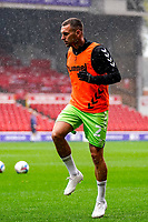 3rd October 2020; City Ground, Nottinghamshire, Midlands, England; English Football League Championship Football, Nottingham Forest versus Bristol City; Jack Hunt of Bristol City warms-up prior to the match