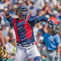14 March 2016: Atlanta Braves catcher A.J. Pierzynski, in action during a Spring Training pre-season game against the Tampa Bay Rays at Champion Stadium in the ESPN Wide World of Sports Complex in Kissimmee, Florida. The Braves shut out the Rays 5-0 in Grapefruit League play. Mandatory Credit: Ed Wolfstein Photo *** RAW (NEF) Image File Available ***