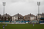 Port Talbot Town 3 Caerau Ely 0, 06/02/2016. Genquip Stadium, Welsh Cup fourth round. First-half action as Port Talbot Town (in blue) play host to Caerau Ely in a Welsh Cup fourth round tie at the Genquip Stadium, formerly known as Victoria Road. Formed by exiled Scots in 1901 as Port Talbot Athletic, they competed in local and regional football before being promoted to the League of Wales  in 2000 and changing their name to the current version a year later. Town won this tie 3-0 against their opponents from the Welsh League, one level below the welsh Premier League where Port Talbot competed, watched by a crowd of 113. Photo by Colin McPherson.