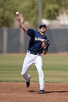 Milwaukee Brewers second baseman Nick Roscetti (70) during a Minor League Spring Training game against the Kansas City Royals at Maryvale Baseball Park on March 25, 2018 in Phoenix, Arizona. (Zachary Lucy/Four Seam Images)