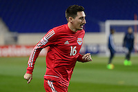 Harrison, NJ - Wednesday Feb. 22, 2017: Sacha Kljestan prior to a Scotiabank CONCACAF Champions League quarterfinal match between the New York Red Bulls and the Vancouver Whitecaps FC at Red Bull Arena.