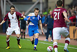 Hearts v St Johnstone...29.01.11  .Rudi Skacel fouls Alan Maybury.Picture by Graeme Hart..Copyright Perthshire Picture Agency.Tel: 01738 623350  Mobile: 07990 594431