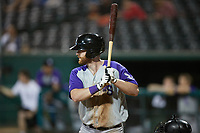 Alex Destino (23) of the Winston-Salem Dash at bat against the Greensboro Grasshoppers at First National Bank Field on June 3, 2021 in Greensboro, North Carolina. (Brian Westerholt/Four Seam Images)