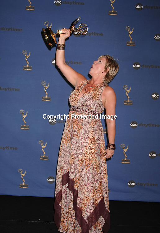 Kim Zimmer, winner for Best Actress..in the Press Room  at the 33rd Annual Daytime Emmy Awards on April 28, 2006 at The Kodak Theatre in Hollywood, Californina. ..Robin Platzer, Twin Images