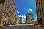Main Street view looking south Downtown Dayton Ohio near Courthouse Plaza